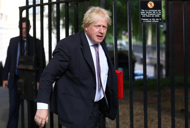 Tsohon sakataren harkokin wajen Birtaniya Boris Johnson da ya yi murabus a ranar 9 ga watan Yuli na 2018.