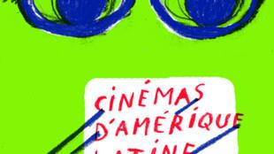 Cartel del 22° Festival de Cine latinoamericano de Toulouse.