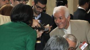 محمد علی قانع زاده ازاعضاء هیئت ایرانی حاضر در اجلاس رم