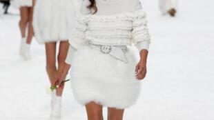 Penélope Cruz participó en el primer desfile de Chanel sin Karl Lagerfeld. París, 5 de marzo de 2019.