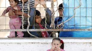 Wasu yara a Sansanin 'Yan gudun Hijirar Syria a Turkiya