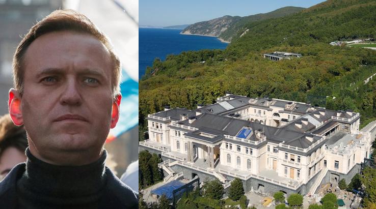 """俄罗斯""""反腐基金会""""创办人,反对派领袖纳瓦尔尼与其指控的""""普京宫殿"""""""