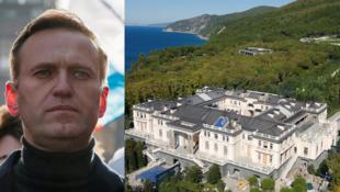 """俄羅斯""""反腐基金會""""創辦人,反對派領袖納瓦爾尼與其指控的""""普京宮殿"""""""
