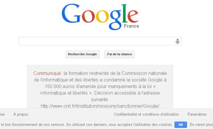 A screenshot of Google's statement
