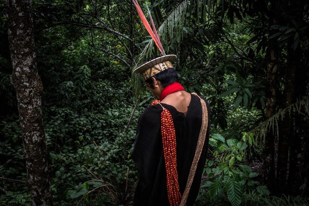 Um indígena Ashaninka, no Acre.