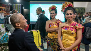 People visit an exhibition of Indonesia inside the venue of the COP24 U.N. Climate Change Conference 2018 in Katowice, Poland December 6, 2018