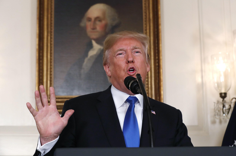 Donald Trump tại Nhà Trắng, Washington DC, ngày 13/10/2017.