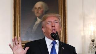 Donald Trump, na Casa Branca (13/10/17).