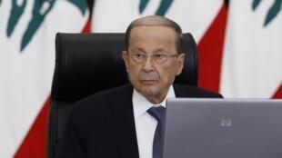 លោក Michel Aoun ប្រធានាធិបតីលីបង់