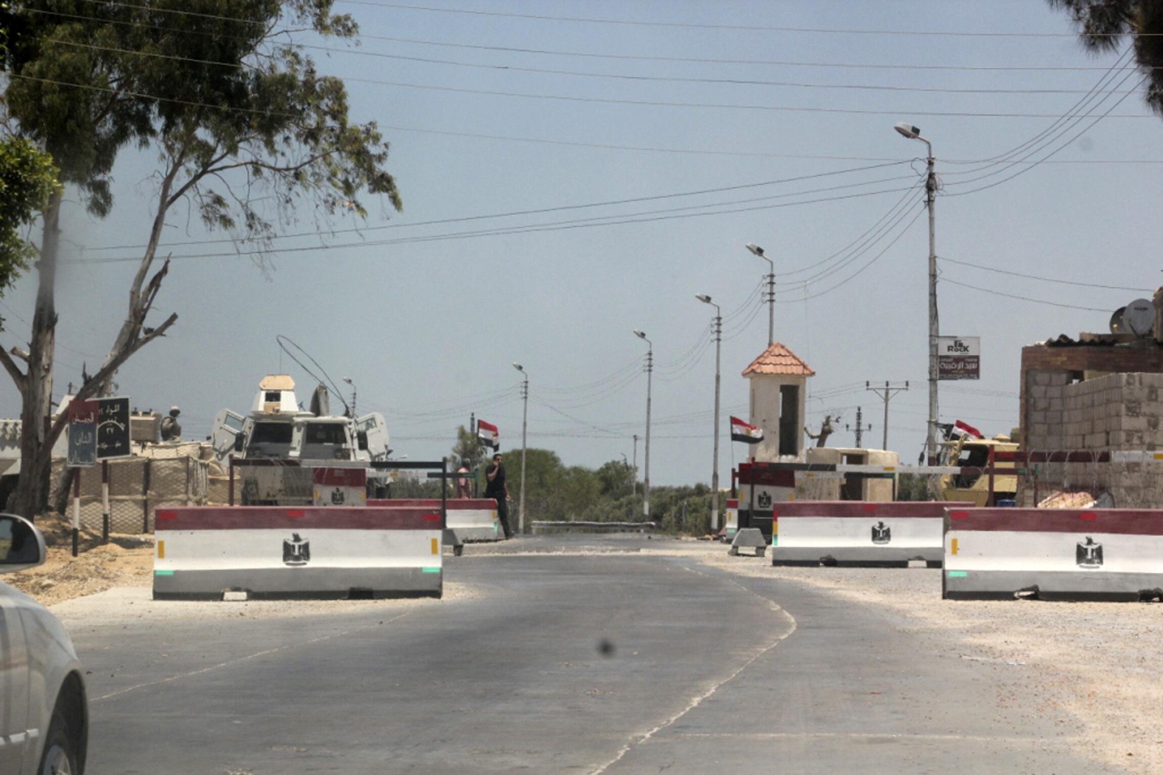 Chốt kiểm soát của quân đội Ai Cập tại Arich, bắc Sinaï.