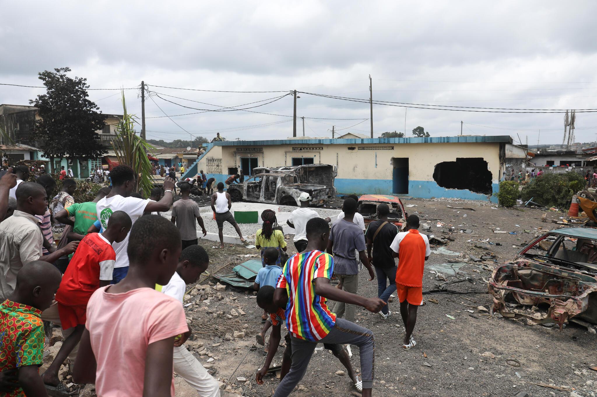 Les violences ont secoué la Côte d'Ivoire, à Divo mais aussi, comme ici, à Bonoua. (image d'illustration)
