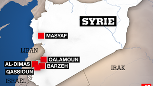 Zonas estratégicas na Síria  atacadas pelos Estados Unidos, França e Reino Unido, na madrugada de 14 de abril