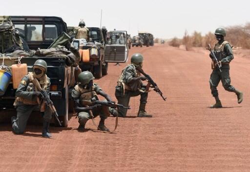 Sojojin Mali yayin gudanar da atisaye a yankin Sahel