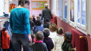Dans les couloirs d'une école maternelle. (photo d'illustration)
