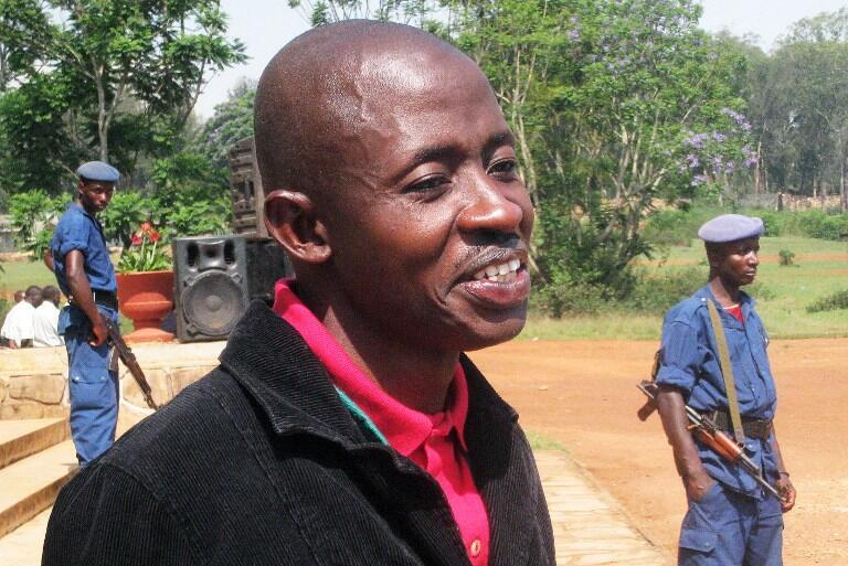 Le journaliste burundais Hassan Ruvakuki, le 18 octobre 2012.