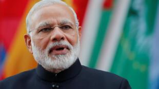 2017年7月7日印度總理莫迪在德國漢堡20國集團領導人峰會上。