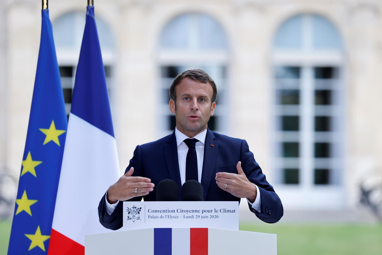6月29日法国总统就法国公民气候公约讲话