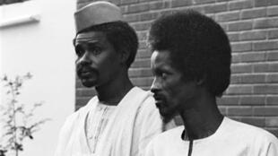 Le 3 mai 1979, le ministre de la Défense Hissène Habré et le ministre de l'Intérieur Goukouni Weddeye.