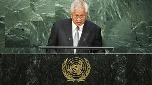 Ngoại trưởng Philippines Albert del Rosario tại Liên Hiệp Quốc, ngày 02/10/2015.