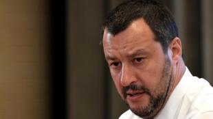 O ministro do Interior italiano, Matteo Salvini.