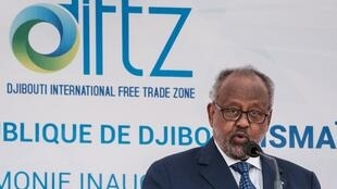 Le président djiboutien Ismail Omar Guelleh a inauguré, en présence de plusieurs homologues de pays voisins, la zone de libre-échange (DIFTZ) à Djibouti, le 5 juillet 2018.