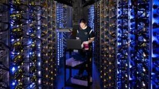 Un centre données de Google, en Caroline du Sud, aux Etats-Unis.