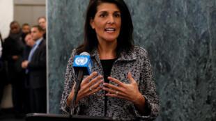 Đại sứ Mỹ tại Liên Hiệp Quốc Nikki Haley, trước các nhà báo, ngày 27/01/2017