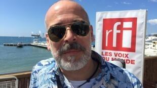 João Federici, diretor do Festival Mix Brasil, em entrevista à RFI Brasil em Cannes.