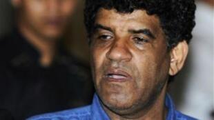 Abdullah al-Senoussi kiongozi wa zamani wa  Intelijensia nchini Libya
