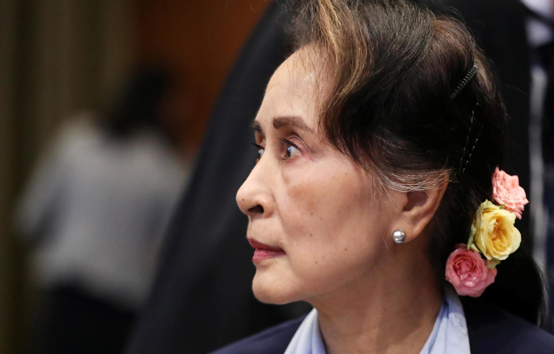 Aung San Suu Kyi mbele ya  Mahakama ya Kimataifa ya Haki, ICJ, Hague ambapo Burma inashtakiwa kwa mauaji ya kimbari, Desemba 11, 2019.