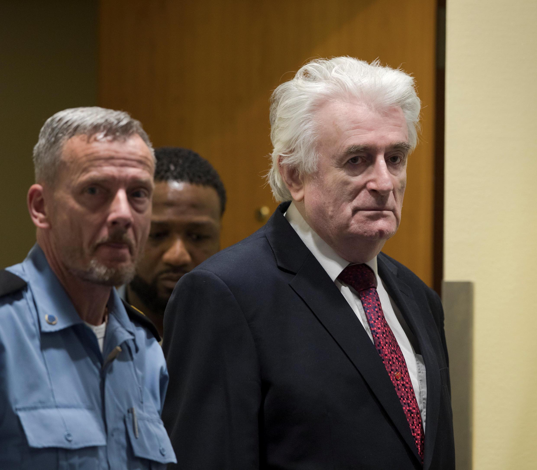 Radovan Karadzic, este miércoles 20 de marzo en La Haya.
