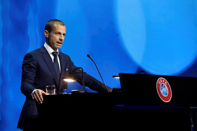 Президент УЕФА Александер Чеферин на конгрессе в Монтрё. 20.04.2021