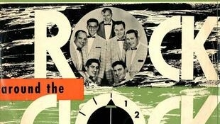 "Portada del single ""Rock Around the Clock"" de Bill Haley and His Commets . Año 1954"