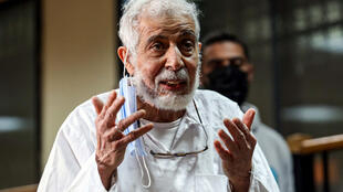Ezzat speaks during a hearing at a courtroom at the Torah Police Institute on the outskirts of Cairo, 3 February 2021.