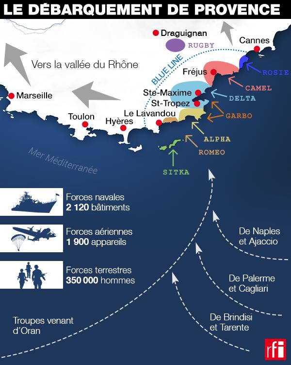 15 août 1944 : les forces alliées débarquent en Provence.