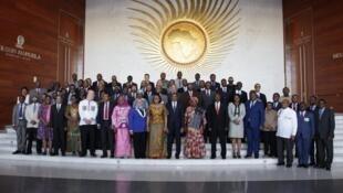 Viongozi wa nchi za Afrika walipokutana mjini Addis Ababa.