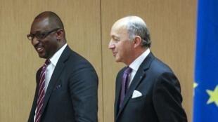 Le ministre malien des Affaires étrangères, Tiéman Hubert Coulibaly, à Lyon, le 19 mars 2013.