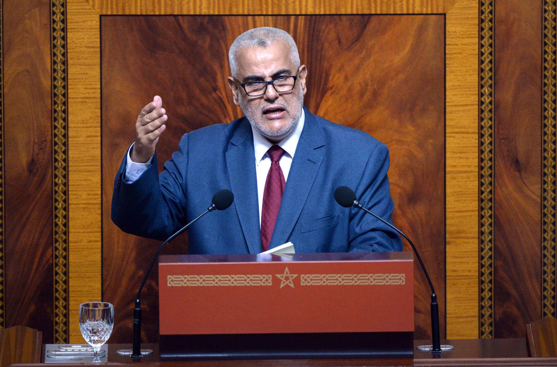Le chef du gouvernement marocain Abdelilah Benkirane, au Parlement à Rabat, le 9 juillet 2014.