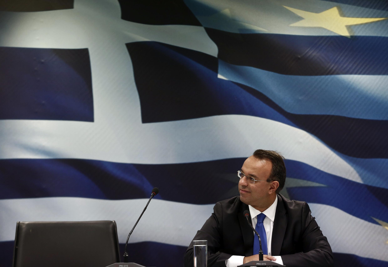 Le ministre grec des Finances Christos Staikouras.