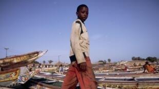 Le port de pêche de Soumbedioune, Dakar, Sénégal.