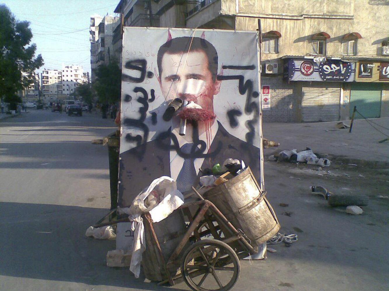 Wano hoton Shugaban Syria Bashar Assad a cikin shara
