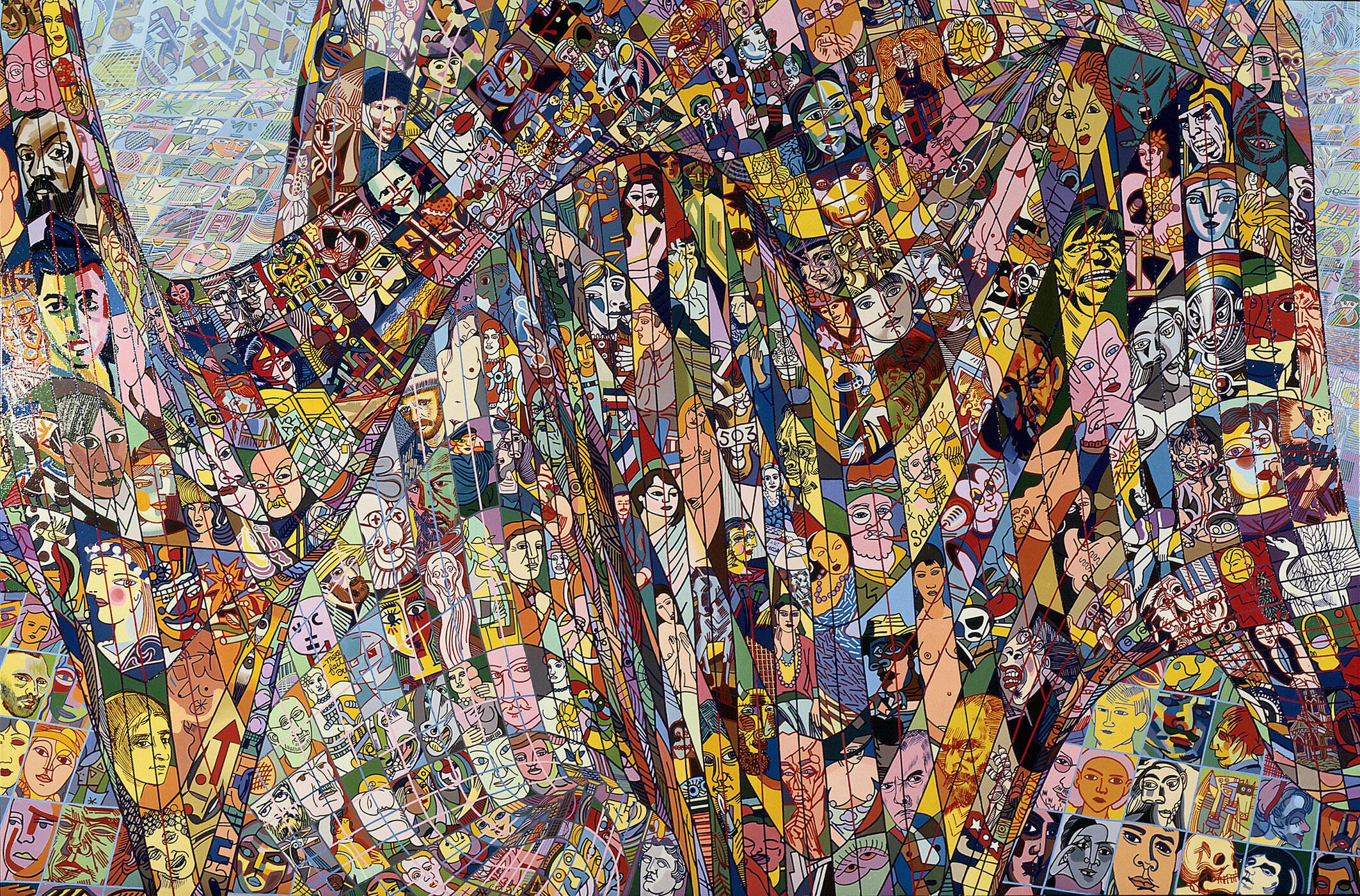 Erró, Detailscape, 1985.