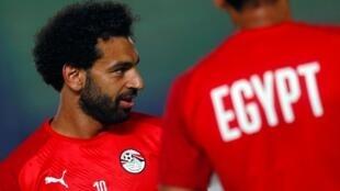 Mohamed Salah, avançado da selecção egípcia.