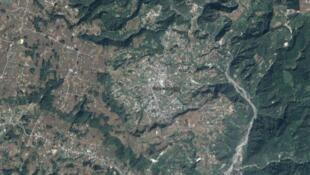 Vue satellite de Concepción, dans la région de Sololà, à l'ouest de la capitale, au Guatemala.