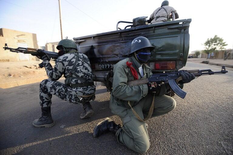 Soldats maliens à Gao le 10 février 2013.