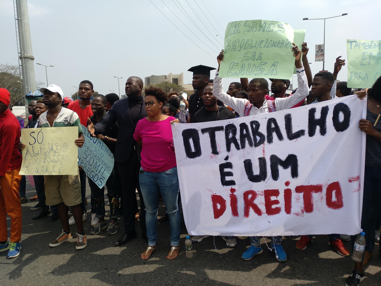 Marcha contra elevado índice de desemprego em Angola, 21 de Julho.