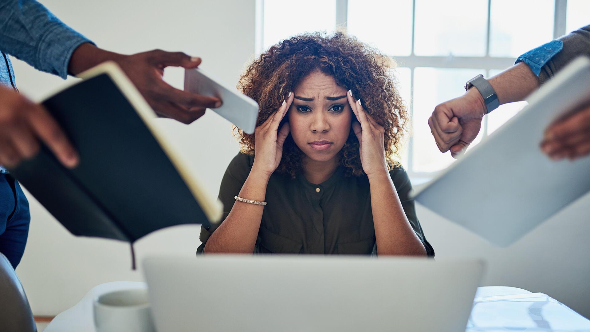 stress illustration travail angoisse migraine mal de tête