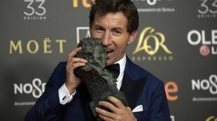L'acteur Jorge Guerrero, récompensé par le Prix du meilleur acteur pour son rôle dans «El Reino».