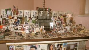 Fotos e lembranças das vítimas dos atentados expostas na Capela St. Paul, em Manhattan.