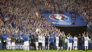 Euro 2016, lors du match en quart de finale France-Islande, au stade de France, à Saint-Denis, près de Paris, France, le 03 juillet 2016.